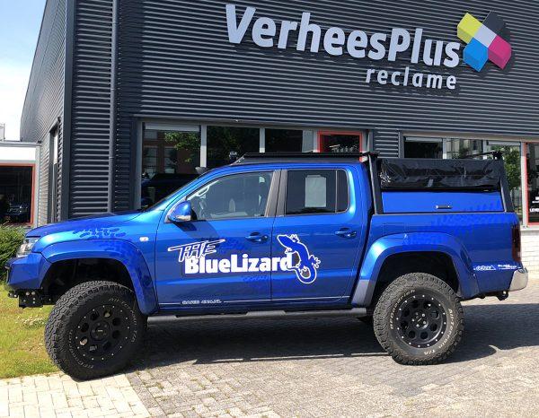 Beletteren Bedrijfsauto - Blue Lizard