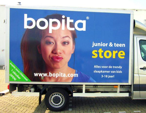 Beletteren Bedrijfsauto - Bopita