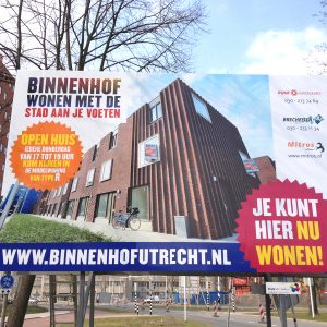Bouwbord Binnenhof Utrecht