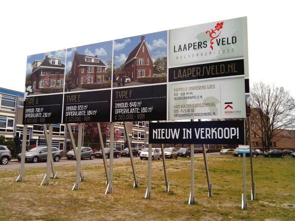 Bouwborden Laapersveld